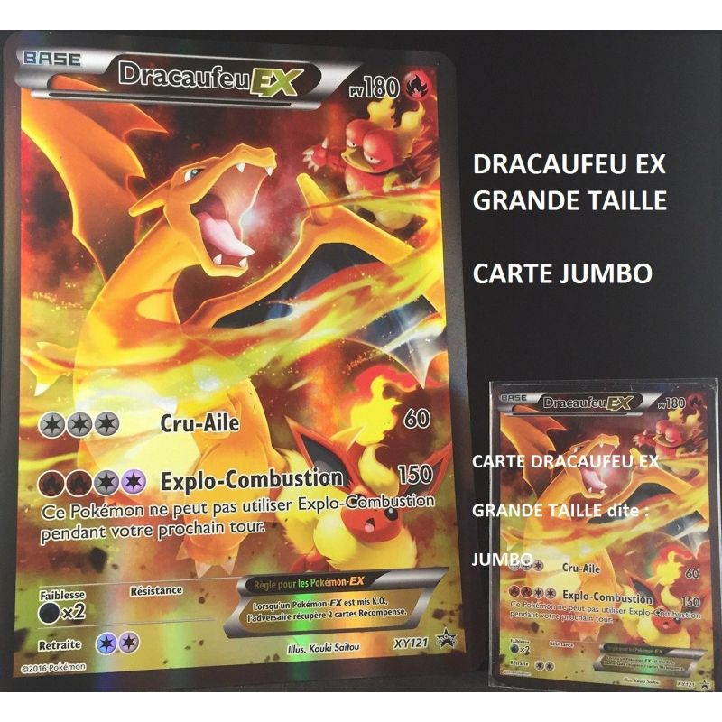 Dracaufeu ex pv 180 xy121 full art holo jumbo grande - Pokemon dracaufeu ex ...