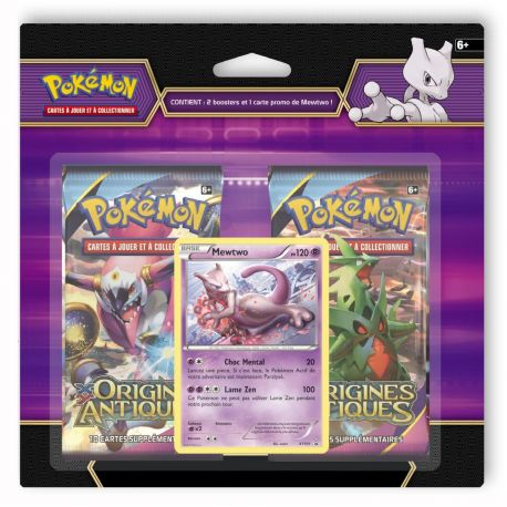 Duopack MEWTWO + 2 boosters Xy07 Origines Antiques