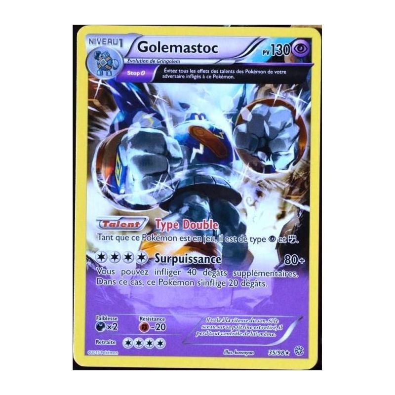 Carte pok mon commune full art golemastoc pv 130 35 98 - Carte pokemon gratuite ...