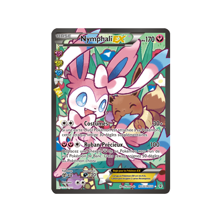 Carte pokémon ex Full Art Ultra Rare Nymphali-ex pv170 RC32/RC32 générations