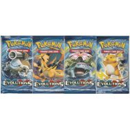 Booster Evolutions XY12 lot de 4 avec illustrations differentes (raichu, dracaufeu, florizarre, tortank)