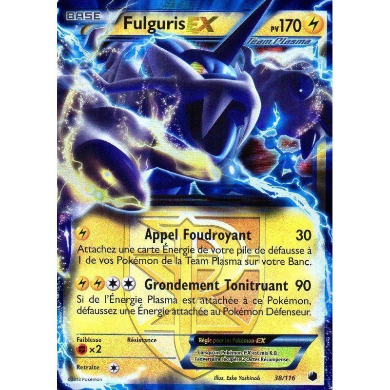 Fulguris ex pv 170 38 116 glaciation plasma noir et blanc glaciat - Carte pokemone ex ...