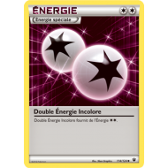 Double Energie Incolore Carte Peu Commune - 114/124 - XY10