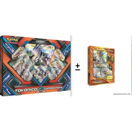 Lot de 2 Coffret Pokémon : Tokorico + Tokorico Gx Chromatique