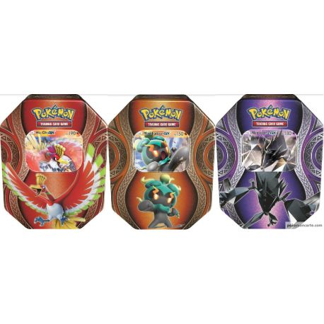 Lot De 3 Pokébox Noël 2017 Ho-Oh Gx Marshadow Gx Necrozma Gx
