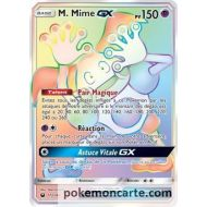 Carte Pokemon Secrète M. Mime GX pv 150 Arc En Ciel Full Art - 173/168 SL07