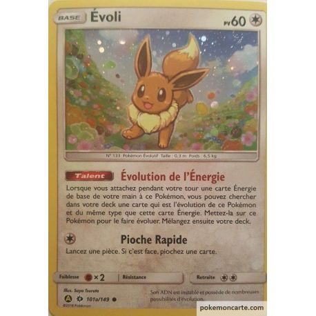 Carte Pokémon Alternative : Evoli pv60 Soleil et Lune 1 - 101a/149
