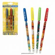 Lot de 4 stylos gel Pokémon
