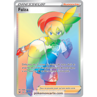 Carte Dresseur Dame du Centre Pokémon 185/185 - Carte Ultra Rare Full Art - Épée et Bouclier 4 - Voltage Éclatant