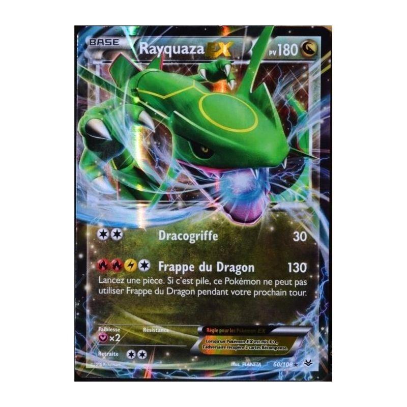 Rayquaza ex pv 180 60 108 - Carte pokemone ex ...